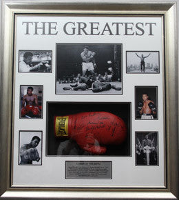 "Boxing Memorabilia, Signed ""The Greatest Boxers"" Framed"