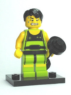 LEGO col02-10 Weightlifter
