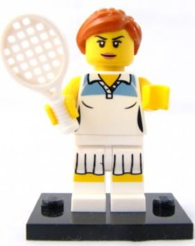LEGO col03-10 Tennis Player