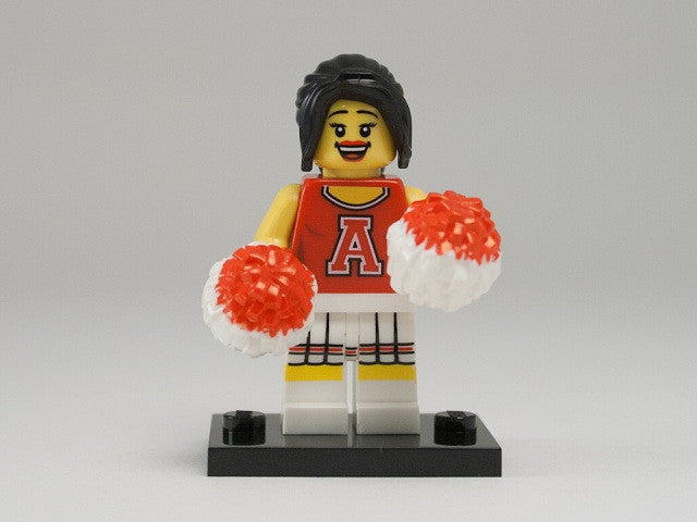 LEGO col08-13 Red Cheerleader