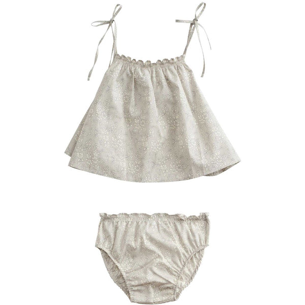 belle enfant baby cami + bloomers set liberty capel - kodomo boston, free shipping, summer baby sets