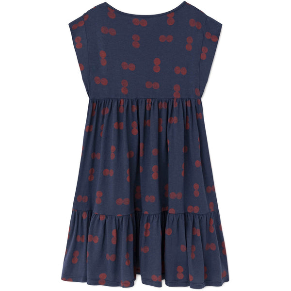 the animals observatory new fall girls collection robin dress in blue circles - free fast shipping on all orders over $99 from kodomo