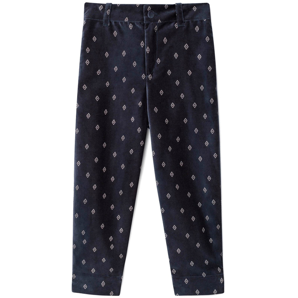 the animals observatory new fall kids collection colt pants in navy blue with logo - free fast shipping on all orders over $99 from kodomo