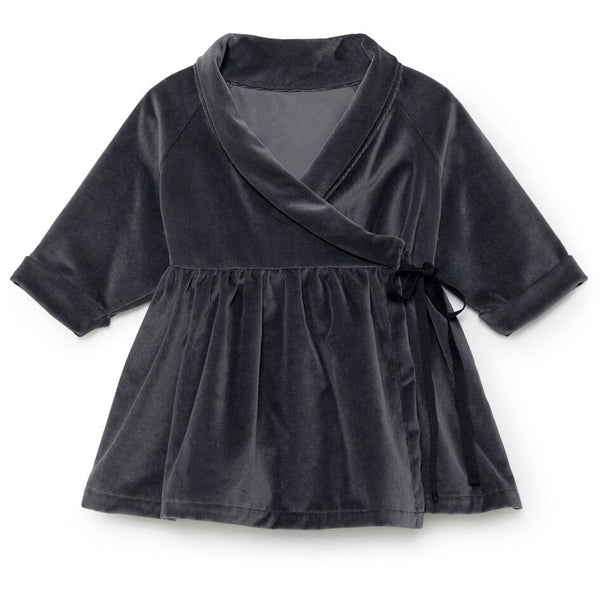 little creative factory baby rose's velvet dress - kodomo