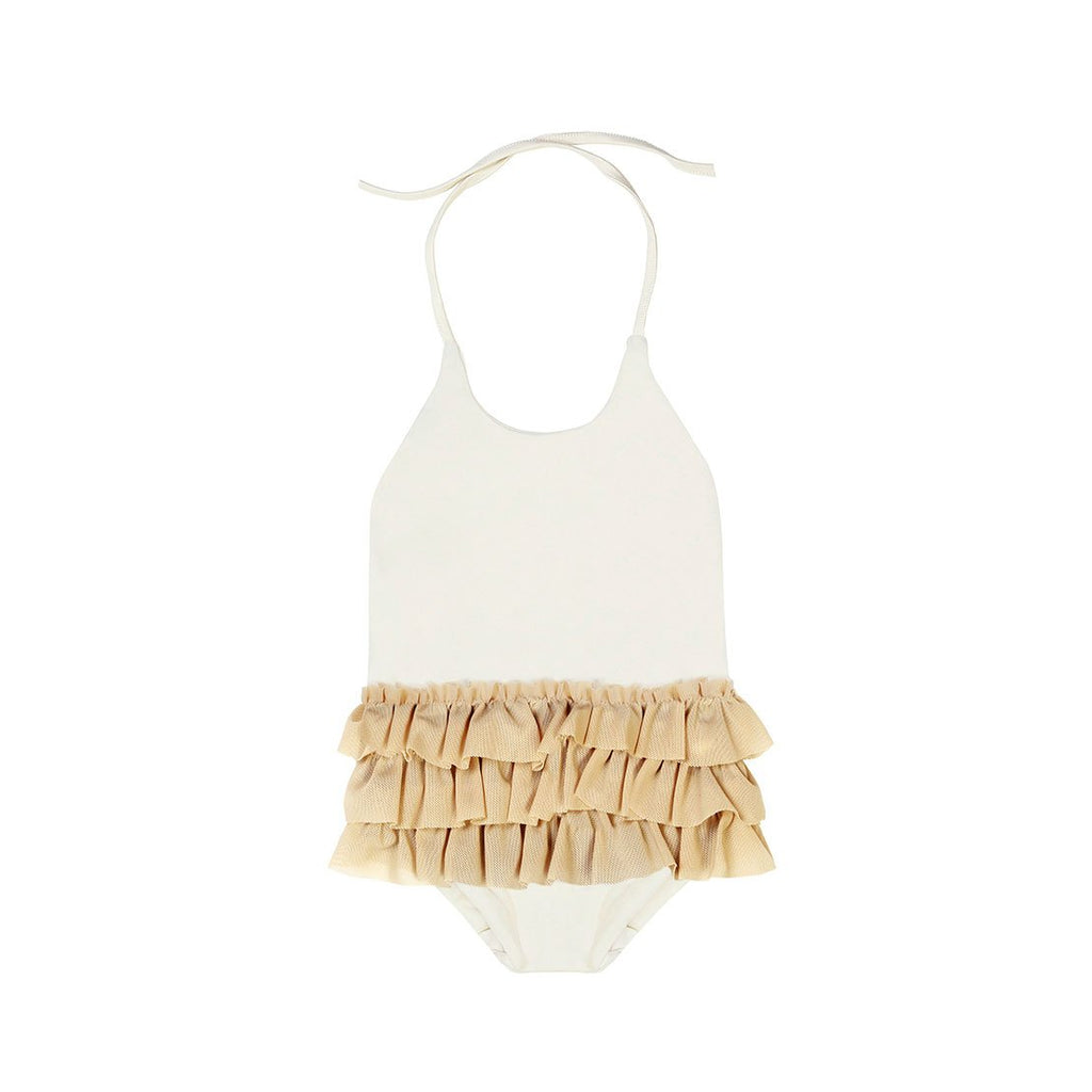 little creative factory baby degas bathing suit ivory - kodomo