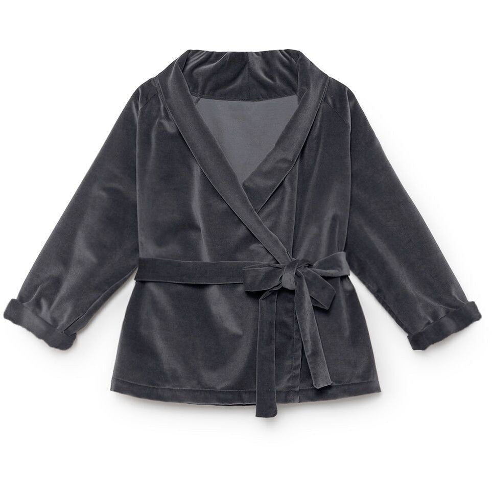 little creative factory rose's velvet wrap jacket - kodomo