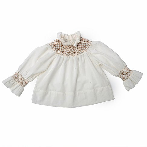 na pa ani frida baby blouse, babies tops with smocked detail