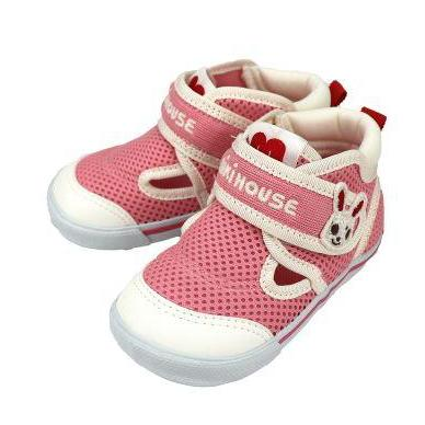 miki house double russell mesh shoes pink - kodomo boston