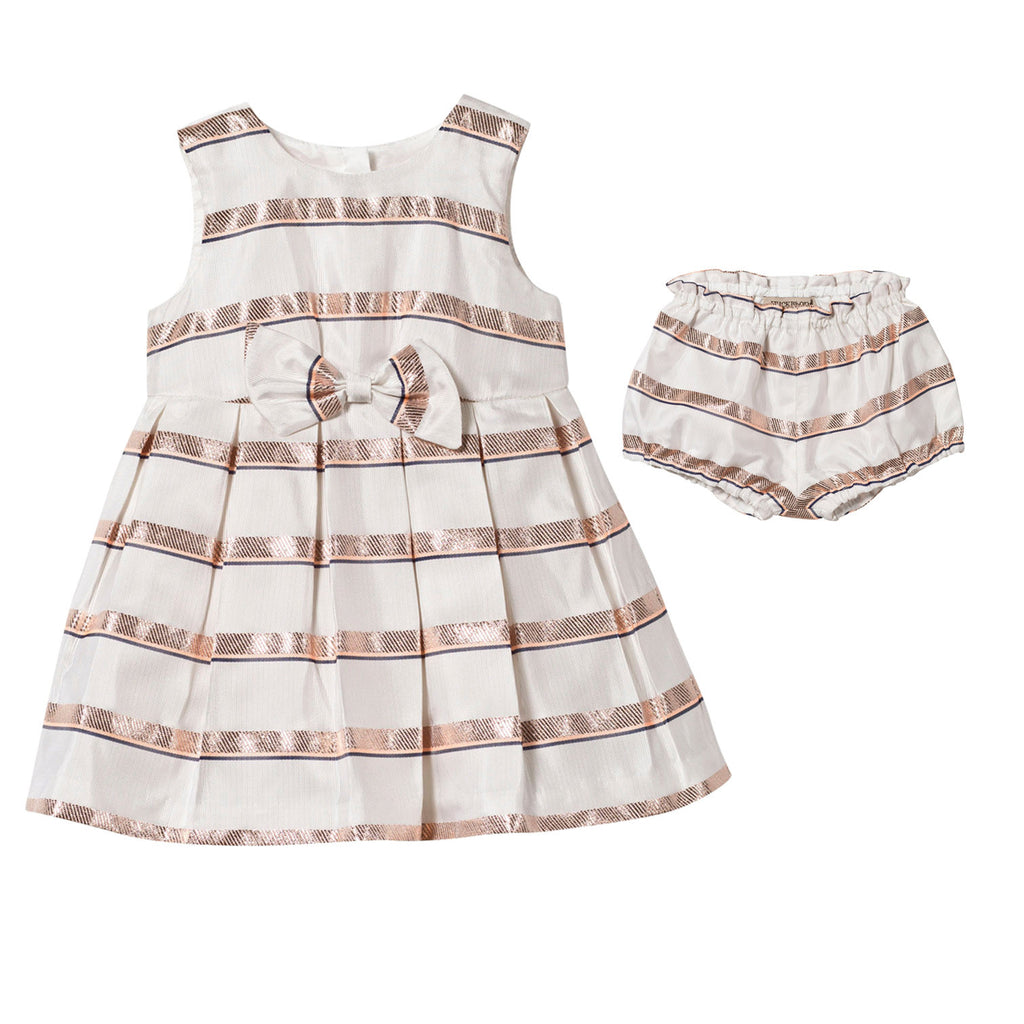 hucklebones sweetie stripe bodice dress - kodomo