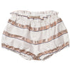 hucklebones sweetie stripe bodice dress & bloomers ivory/rose gold