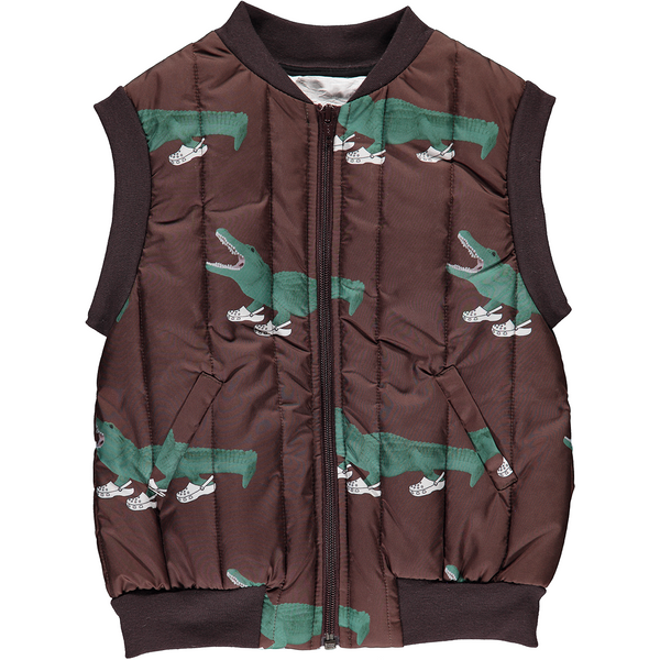 caroline bosmans croc(o) printed vest brown, new caroline bosmans at kodomo boston free shipping