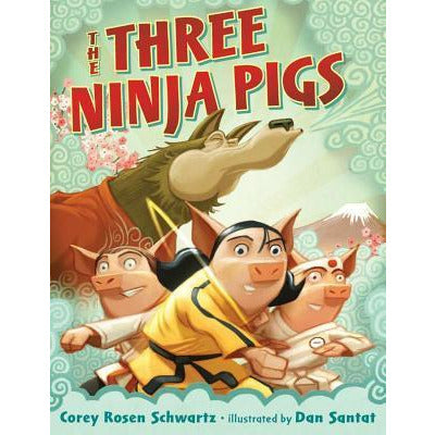 the three ninja pigs, three little pigs wolf story books for children free shipping kodomo boston