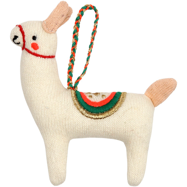meri meri llama tree decoration - kodomo boston, christmas tree decorations, fast shipping