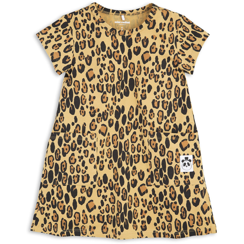 mini rodini leopard dress - kodomo