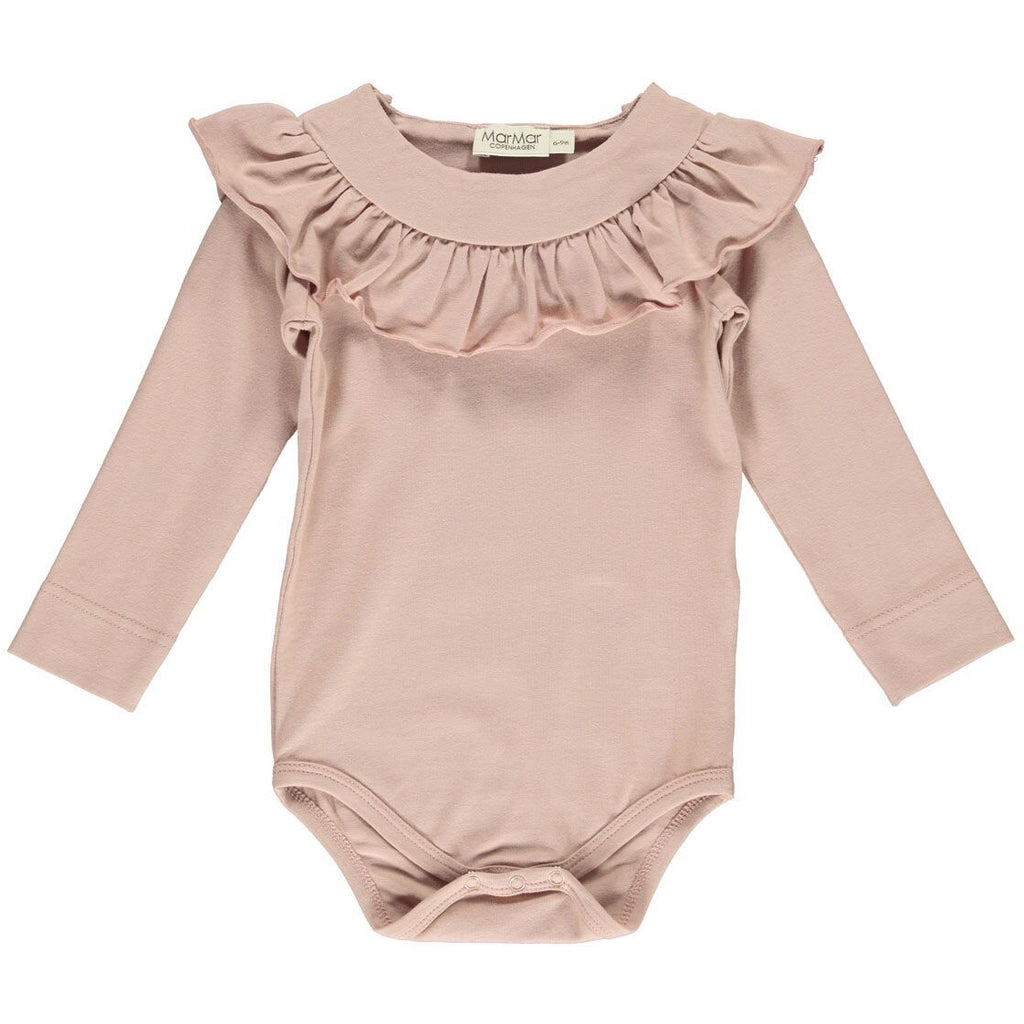 marmar copenhagen bibbi baby body dusty rose - kodomo baby onesies/playsuits - children's clothing in boston, marmar copenhagen - bobo choses, atsuyo et akiko, belle enfant, mamma couture, moi, my little cozmo, nico nico
