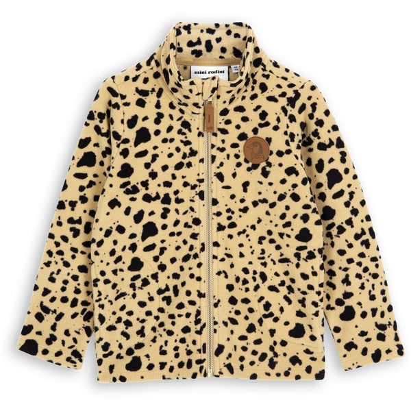 mini rodini fleece spot jacket beige - kodomo