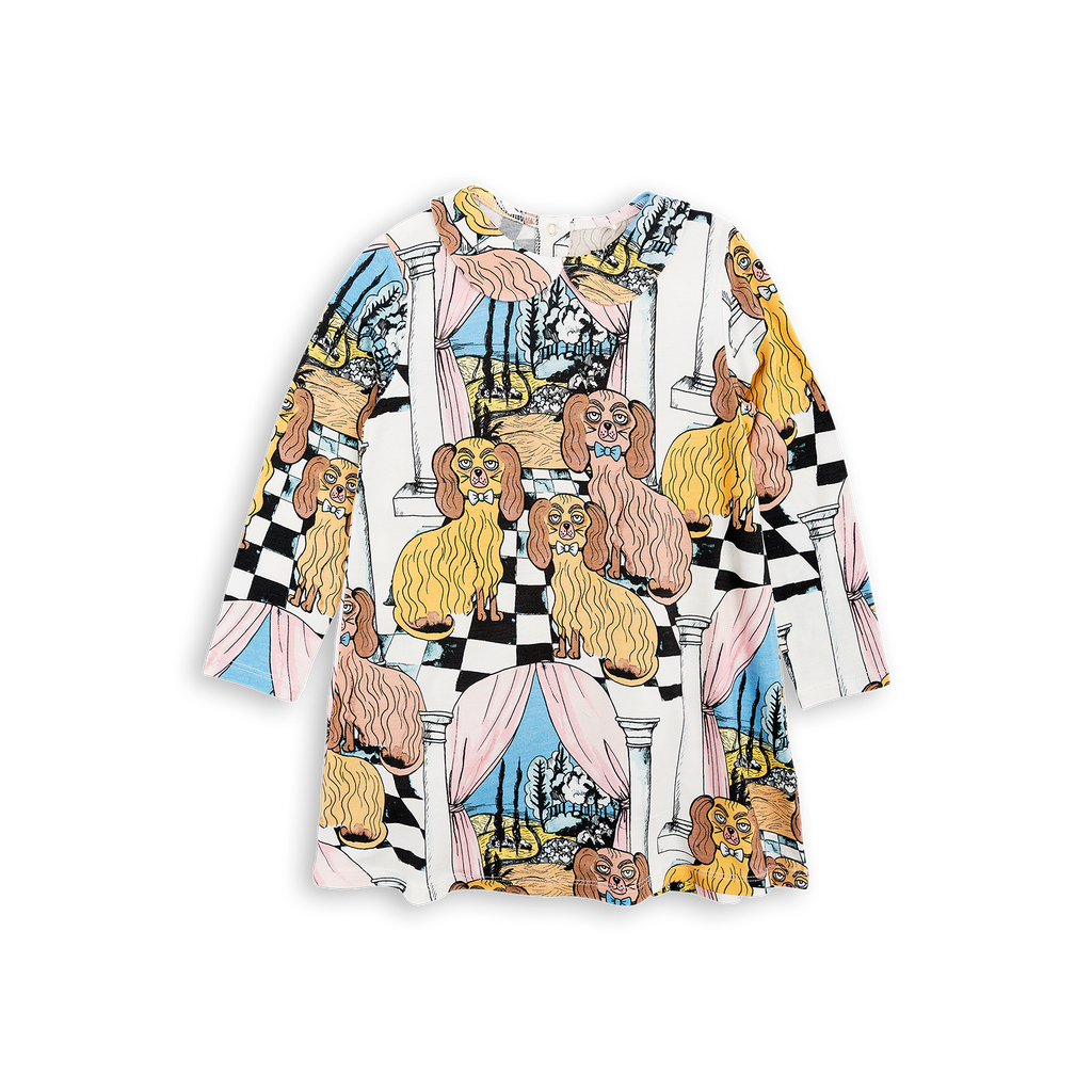 mini rodini oh la la dashing dogs dress - kodomo