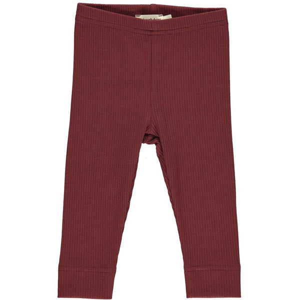 marmar copenhagen leggings wine - kodomo boston, unisex kids leggings.