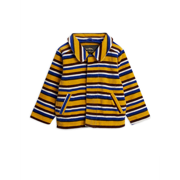 mini rodini new pre-fall kids collection comfy velour jacket with a multicolored striped - free fast shipping on all orders over $99 from kodomo