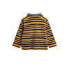 mini rodini velour stripe jacket yellow