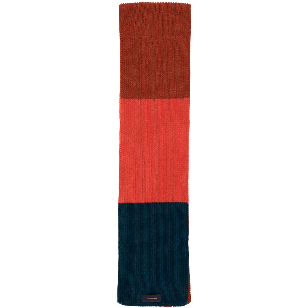 tinycottons stripes scarf true navy/red/dark brown - kodomo boston, fast shipping, kids fun scarfs