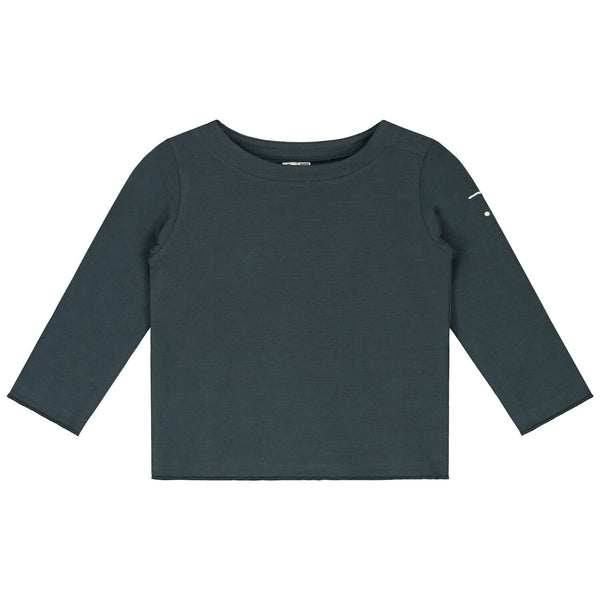 gray label baby long sleeve tee blue grey - kodomo
