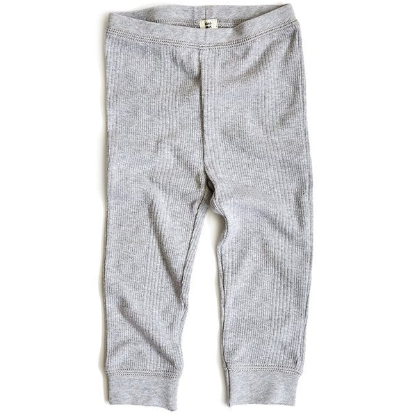 goat-milk baby thermal pant heather grey - kodomo boston. free shipping.