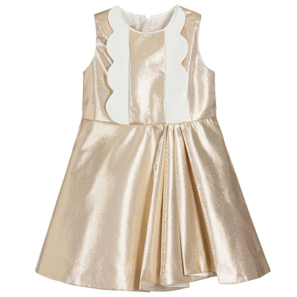 hucklebones metallic bodice dress - kodomo