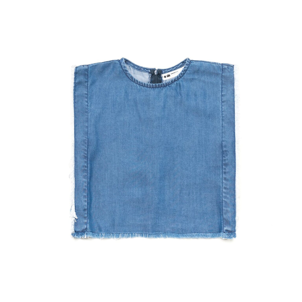 omamimini sleeveless fringed top - kodomo