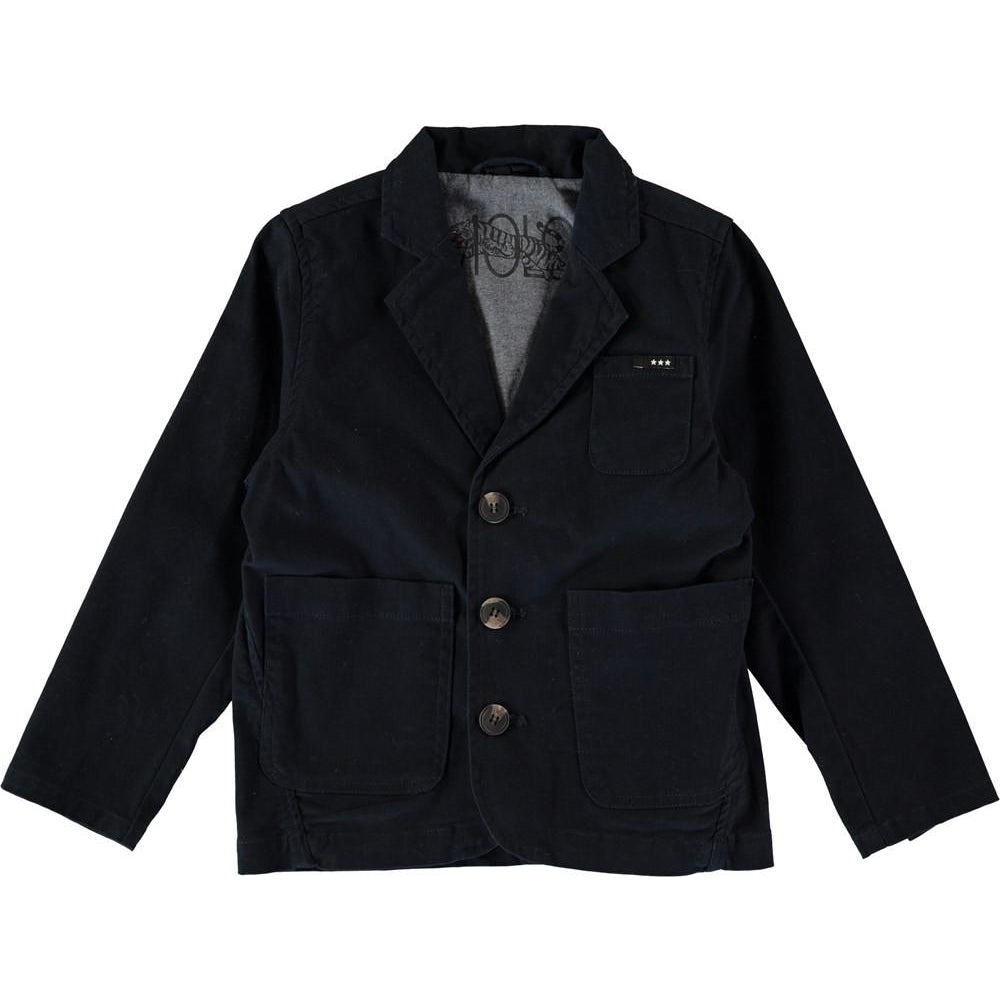 molo harrison blazer dark indigo - kodomo outerwear - children's clothing in boston, molo - bobo choses, atsuyo et akiko, belle enfant, mamma couture, moi, my little cozmo, nico nico