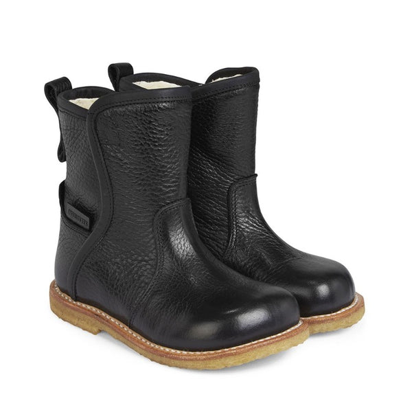 angulus tex boot black with inner zipper, kid's shoes