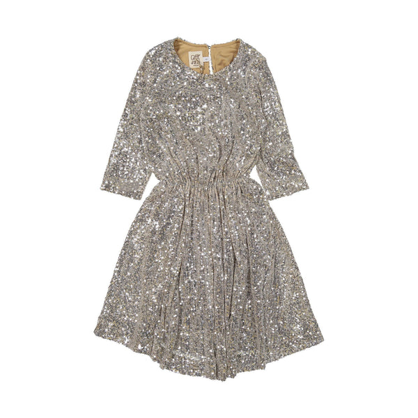 caffé d'orzo cora dress powder, girls dresses, special occasion dresses for kids from italy at kodomo boston, free shipping