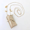 atsuyo et akiko amulet crystal necklace sparkle champagne, holiday and birthday gifts for girls and teens at kodomo boston. fast shipping