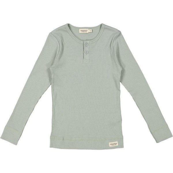 marmar copenhagen long sleeve tee grey sage, kid's sustainable everyday top