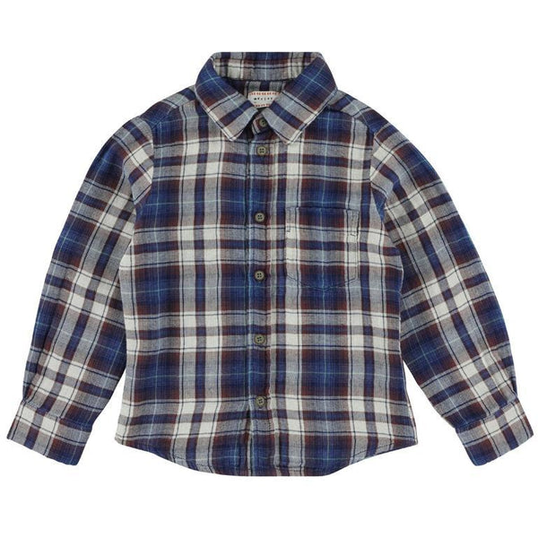 morley benjamin greater blue shirt - kodomo boston, fast shipping, new arrivals, boys flannel shirts