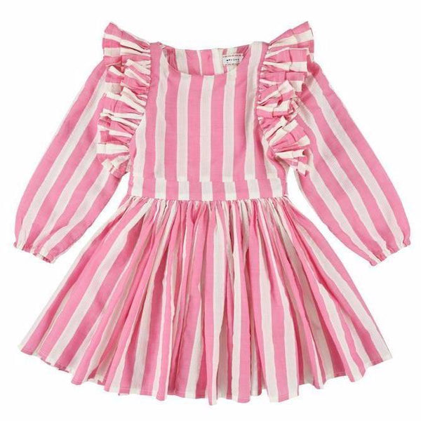 morley laynah prato dress fuschia, morley spring summer girls dresses at kodomo boston free shipping