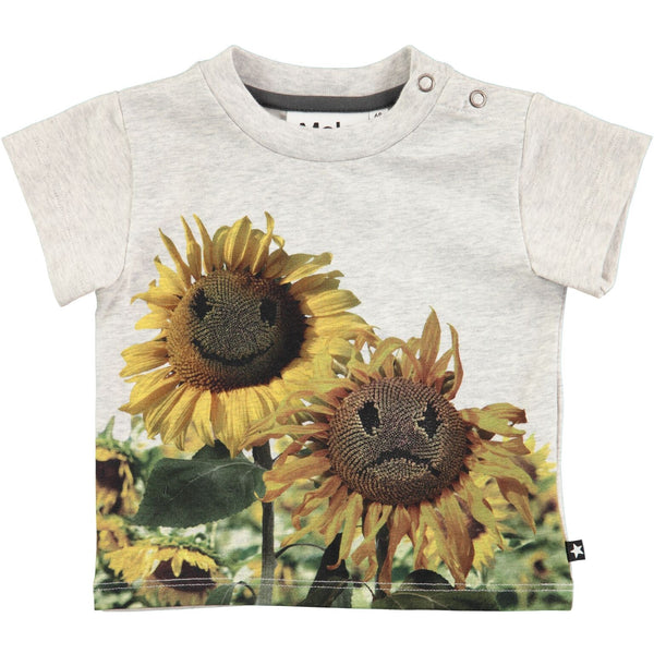 molo emilio short sleeve t-shirt moody flowers