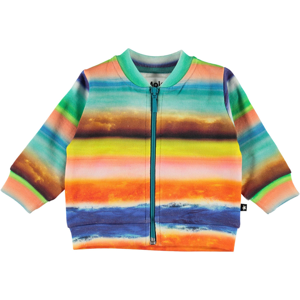molo duff sweatshirt sunset stripes - kodomo boston, fast shipping