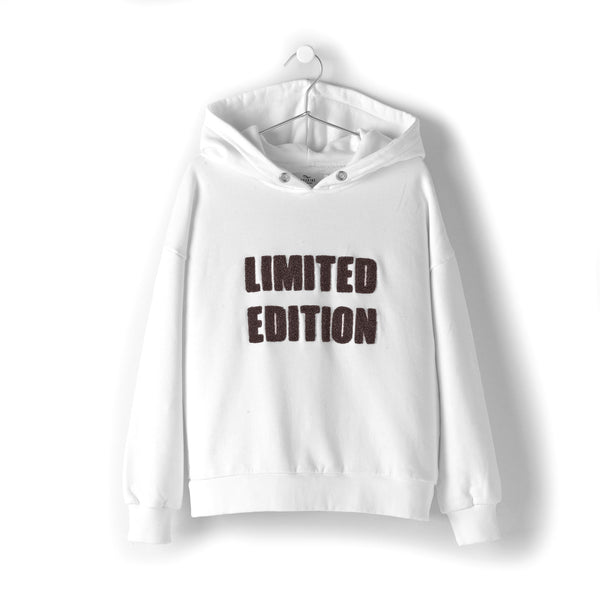 andorine hooded sweatshirt limited edition off white. girls and teen fashion at kodomo boston, free shipping