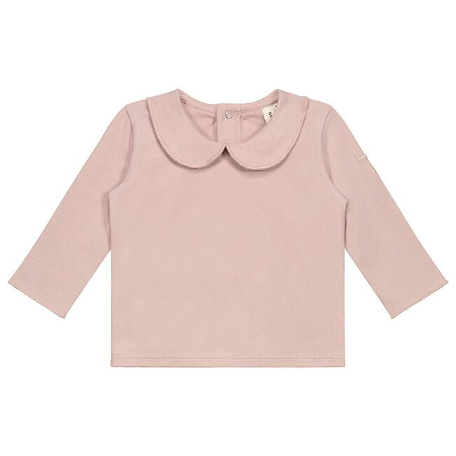gray label baby collar tee vintage pink - kodomo boston, fast shipping, organic cotton baby clothes