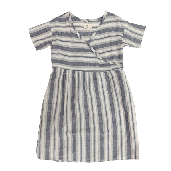 1352b599719 nico nico melody stripe wrap dress natural - free fast shipping on all  orders over $99