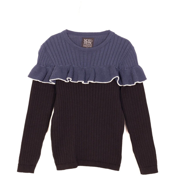 motoreta cala sweater navy and black stripe - kodomo