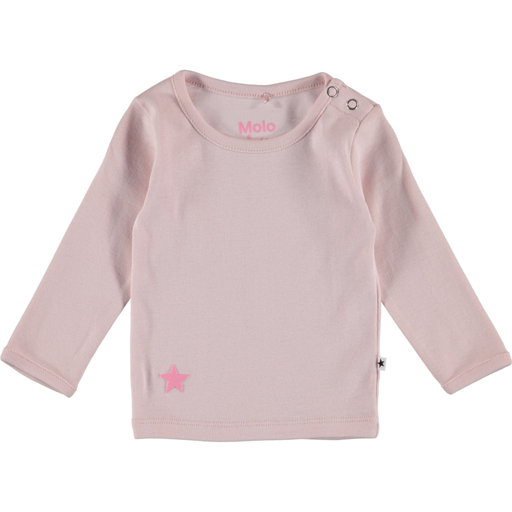 molo elona t-shirt long sleeve morning rose - kodomo boston, new molo baby tee shirt.