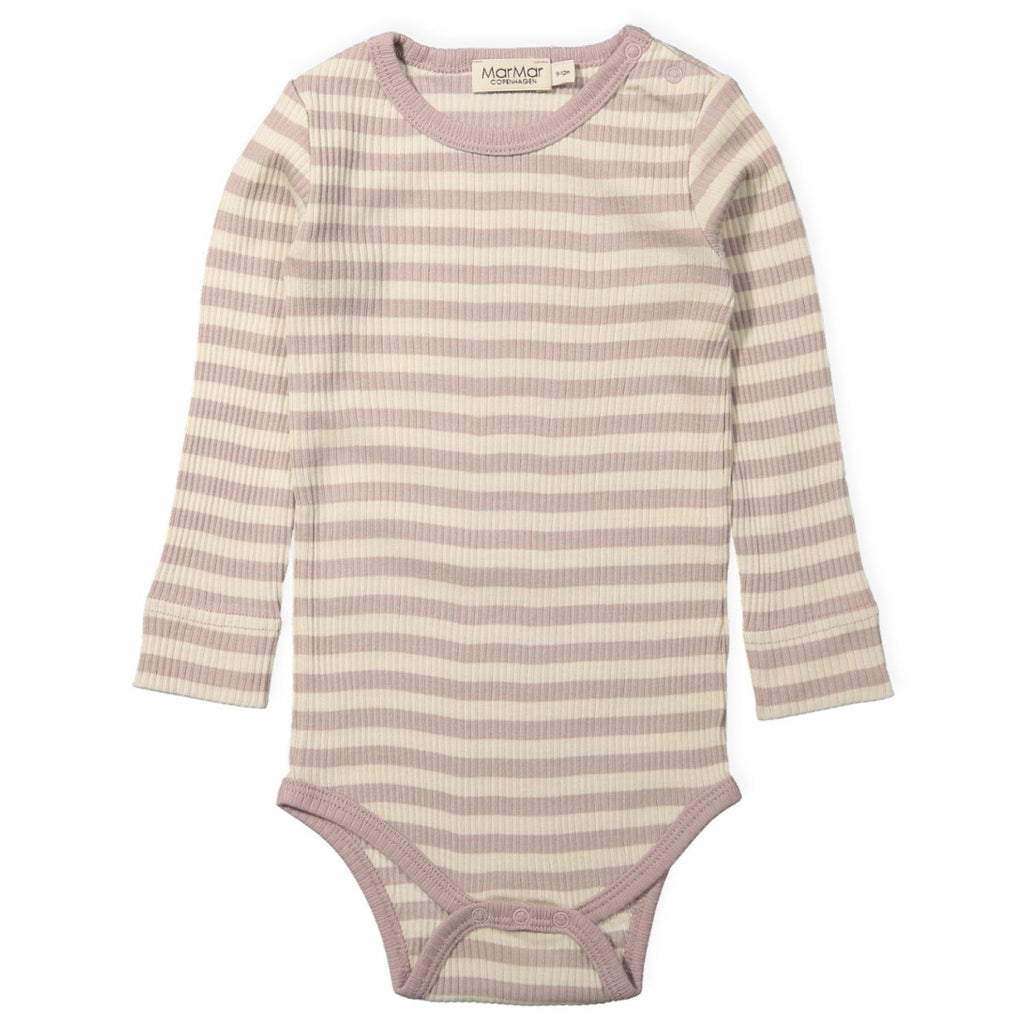 marmar copenhagen faded rose stripes long sleeve body - kodomo