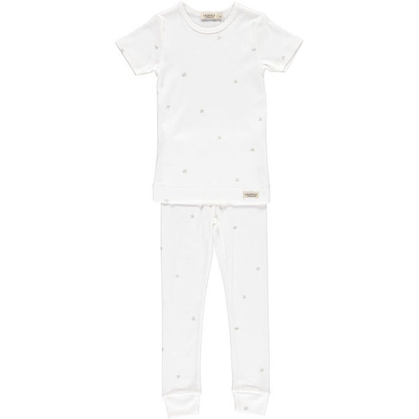 marmar copenhagen new spring summer baby & girls two-piece sleepwear silver green sprout - free fast shipping on all orders over $99 from kodomo