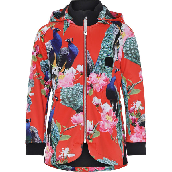 molo hillary soft shell jacket peacock - kodomo boston, new arrivals, girls rain jackets, free shipping