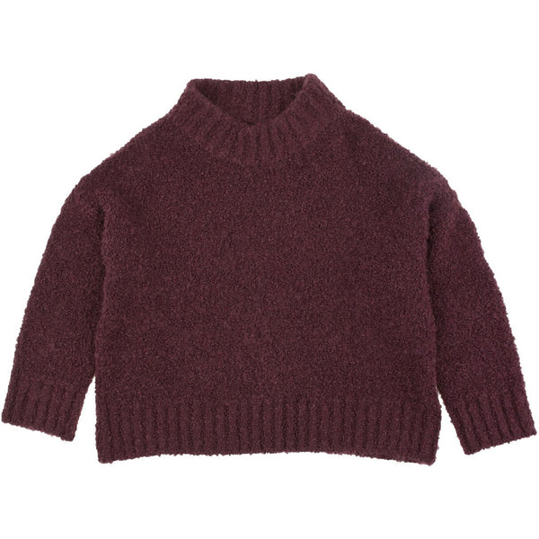 tinycottons fluffy mock sweater plum - kodomo