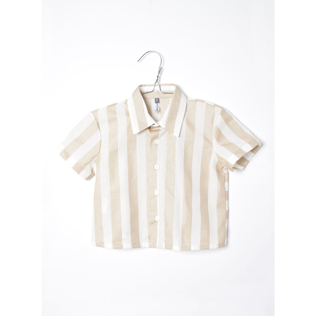 motoreta white and gold stripes blouse - kodomo