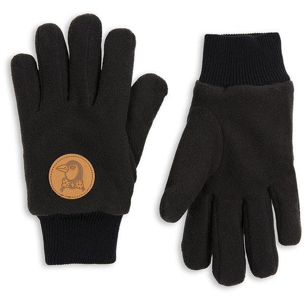 mini rodini fleece glove black - kodomo gloves - children's clothing in boston, Mini rodini - bobo choses, atsuyo et akiko, belle enfant, mamma couture, moi, my little cozmo, nico nico