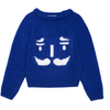 paade mode alpaca sweater nutcracker blue - kodomo